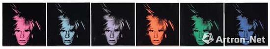 安迪·沃霍尔 《六个自画像》 2262.125万英镑