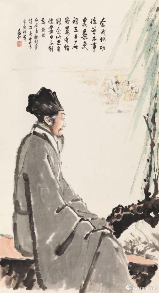蒋兆和 《白居易诗意图》 253万元成交 中国嘉德2017年秋拍
