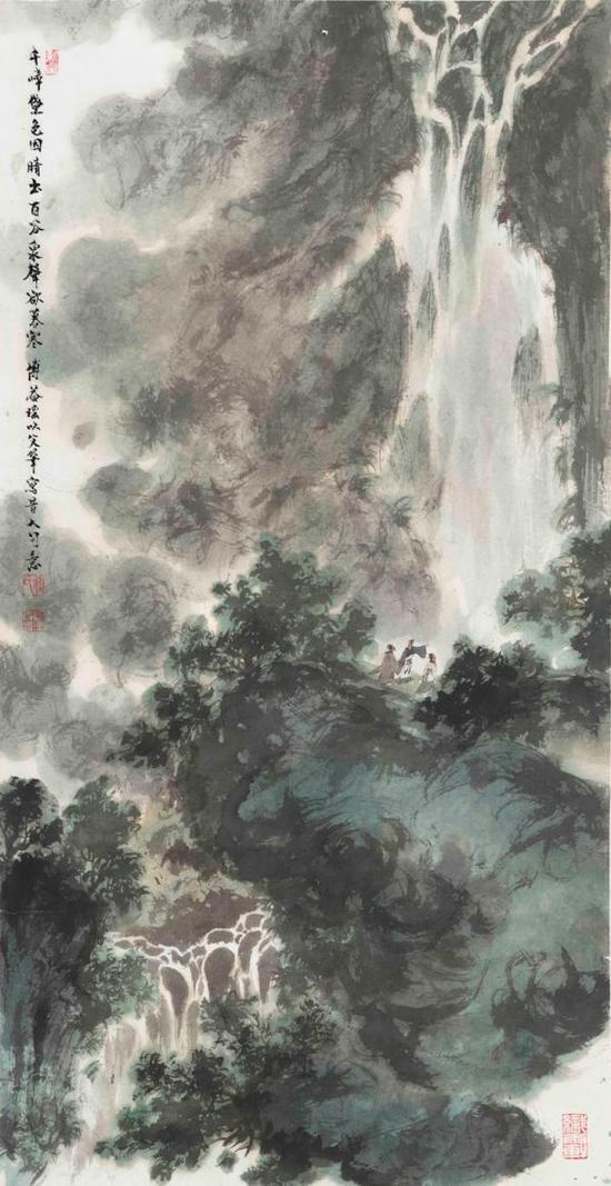 《百谷泉声欲暮寒》,傅益瑶作品