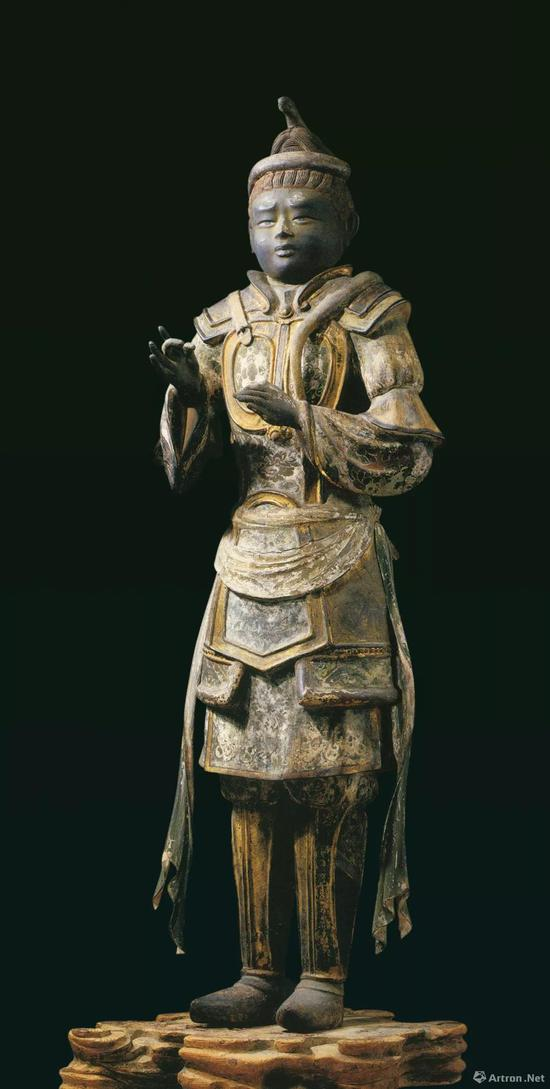 沙羯罗像,奈良时代,脱活干漆上彩,高154.5 厘米,日本国宝,奈良兴福寺藏