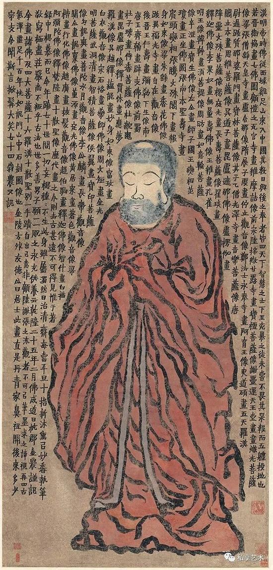 金农 佛像图 天津博物馆藏