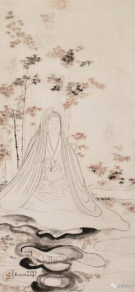 清 金农 观音大士 北京九歌2010秋拍 成交价1008万元