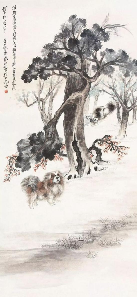 老树狗戏图