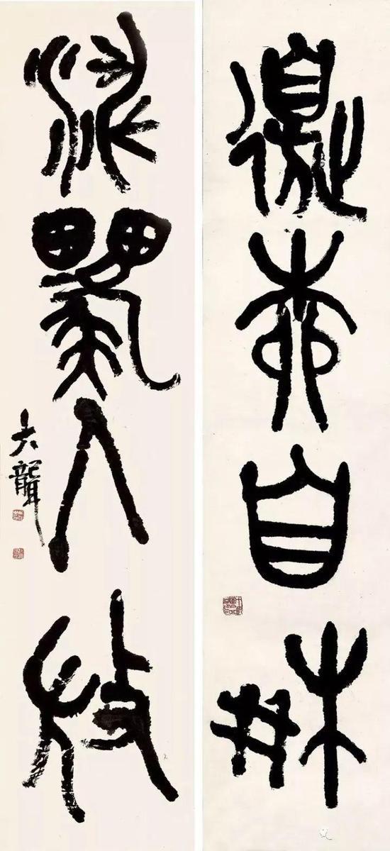 吴昌硕晚年篆书(石鼓文)书法,安吉吴昌硕纪念馆藏