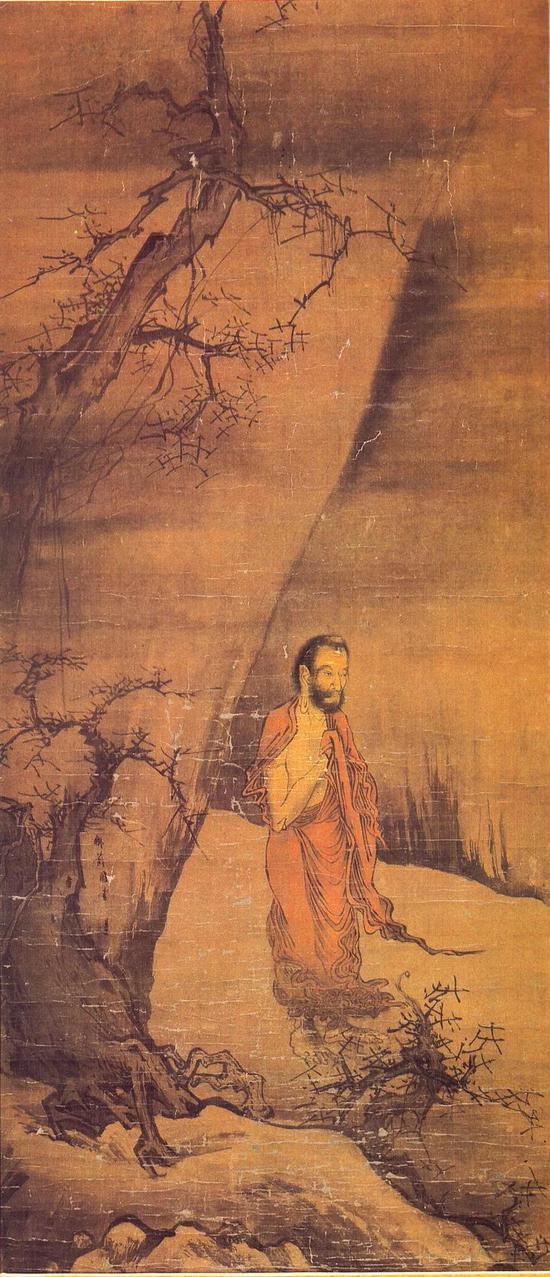 梁楷的三幅对《出山释迦图》