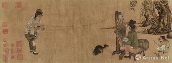 王居正 北宋《纺车图》