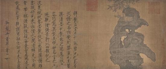 宋 赵佶《祥龙石图卷》绢本设色 北京故宫博物院