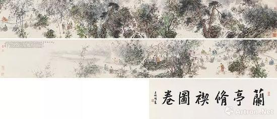 ▲王明明 兰亭修禊图卷 手卷 成交价:1090.25万港币