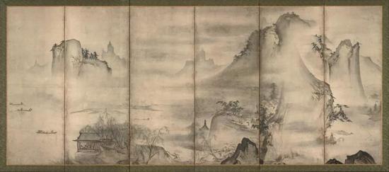 周文(传)《四季山水图》