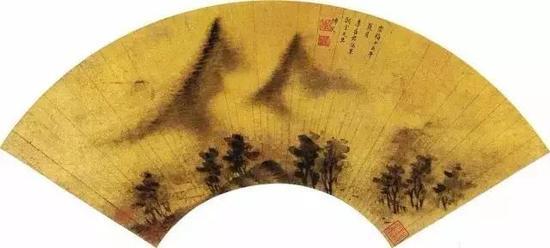 李香君《雨景山水》
