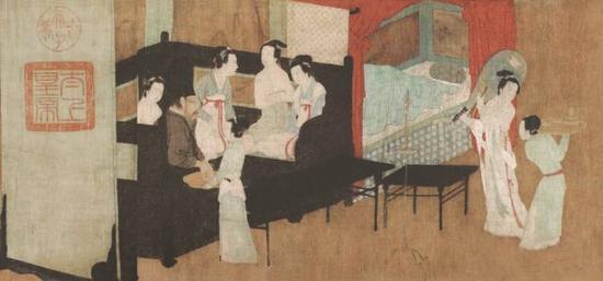 《韩熙载夜宴图》第三段