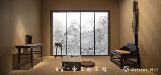 """四僧书画特展中的""""禅房"""" 图片来自《宫》"""