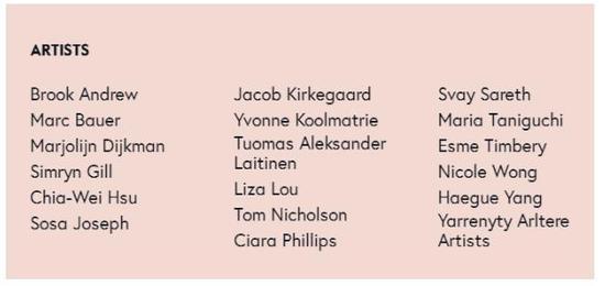 澳大利亚当代艺术博物馆 艺术家名单