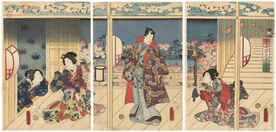 Prince Genji Paying a Visit |<img src=