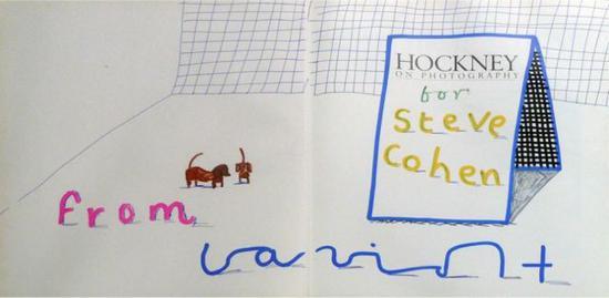 """《斯坦利与朋友——霍克尼摄影》(Stanley and friend—""""Hockney on Photography""""),约 1988。图片:artnet价格数据库"""