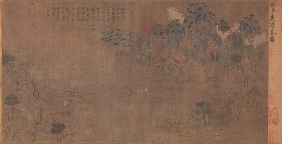 隋代 展子虔《游春图》 故宫博物院馆藏