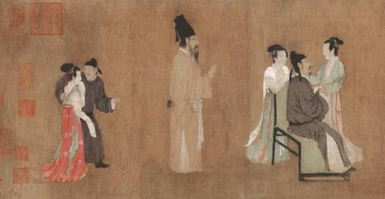 《韩熙载夜宴图》第五段