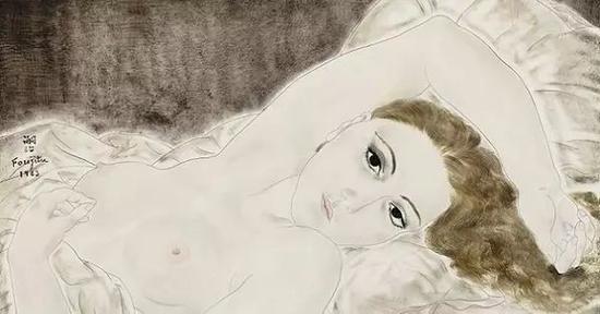 躺着的裸女 1923