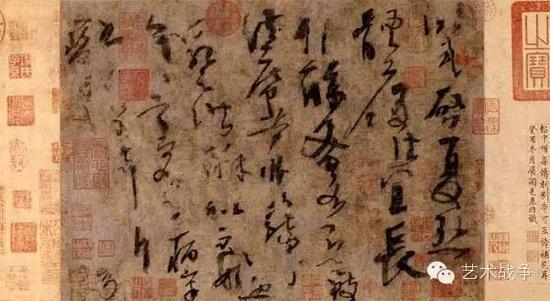 (中国书法艺术的根源追溯不是字体装饰,而是笔触形成的细微图像)