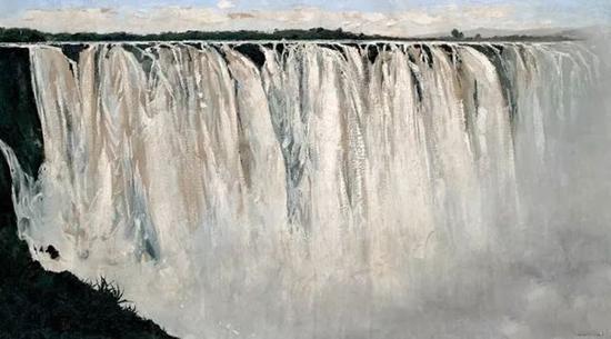 No.2吴冠中《坦桑尼亚大瀑布》,成交价:5369万港币