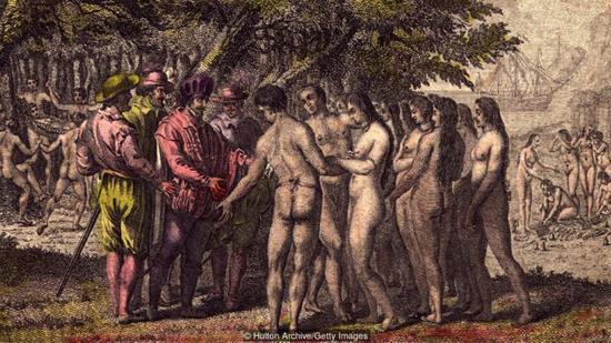 西班▲牙殖民者与北美土著