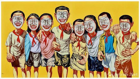 曾梵志《面具系列 1996 NO.6》2017年在保利香港以1.05亿港元售出