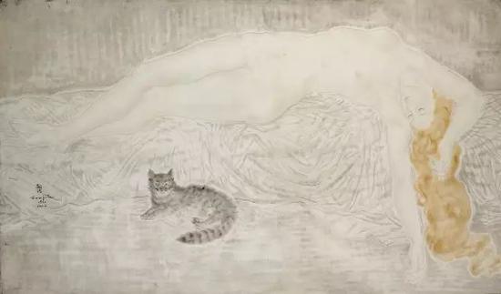 裸女与猫 1930