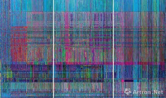 刘韡《真实的维度No.18》布面油画300×150cm;300×200cm;300×150cm 2015年作成交价:644万元