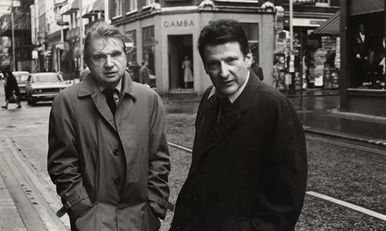 1974年,培根和弗洛伊德。照片:伦敦国家肖像画廊