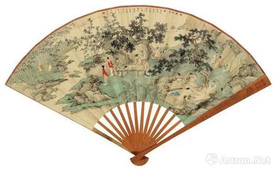 陈少梅于1941年《西园雅集》 2014年北京匡时秋拍 成交价:362万