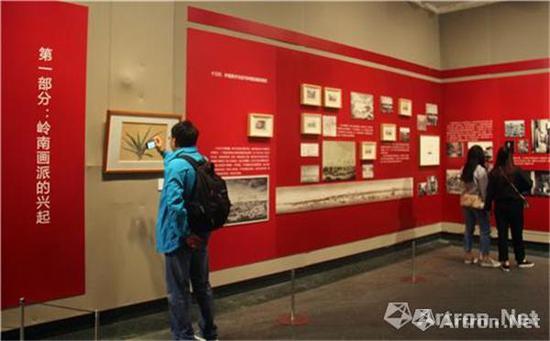 """""""'曙色'二十世纪前期广东中国画变革之路""""展览现场"""