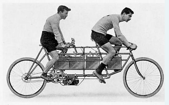 ▲1897年,Humber双人电动自行车