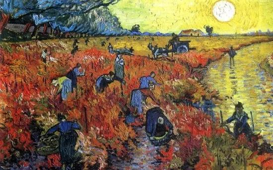 �J《红色葡萄园》――据说梵高生前唯一卖掉的一 幅画--