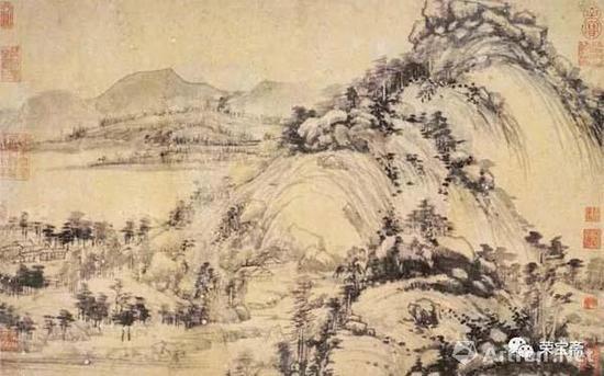 元黄公望富春山居图之剩山图 浙江省博物馆藏