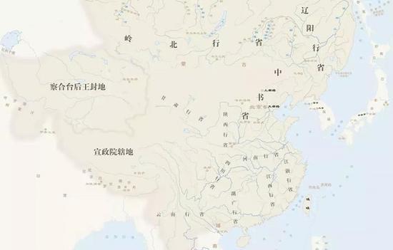 元代疆域图