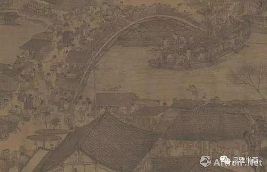 明本《清明上河图》中船舶顺利通过虹桥的情景(图6)