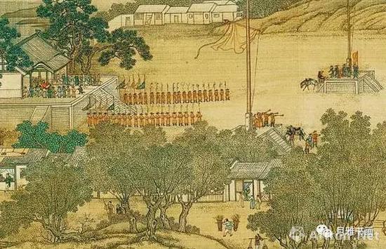 清院本《清明上河图》中御林军习武的壮观场景(图15)