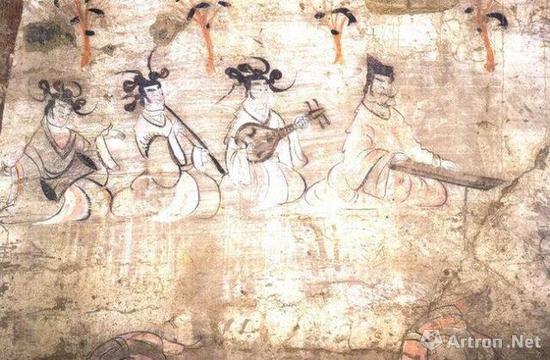 《酒泉十六国墓壁画》
