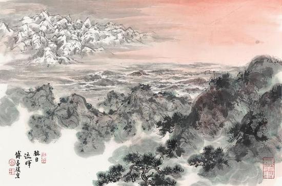 《赫日流晖》,傅益瑶作品