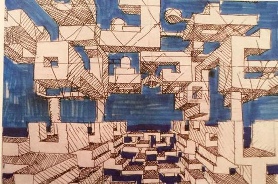 """""""空中城市"""",尤纳喜欢用画图的方式来表达他的建筑理论 ?Yona Friedman"""