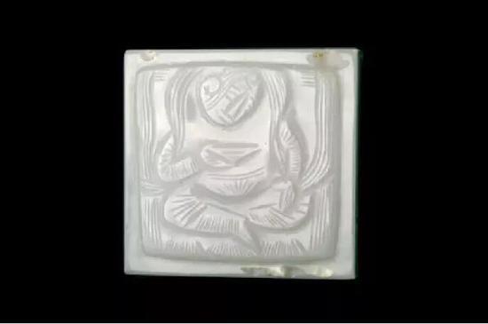 河北省民俗博物馆唐代执碗胡人玉带板