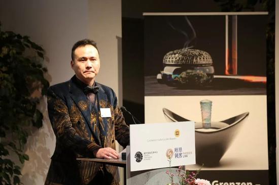 ▲ 威狮国际总裁陈齐杰在开幕式上致辞