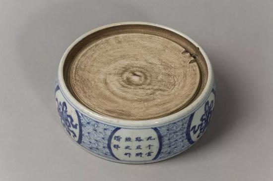 瓷砚(清)15.6X15.6X5.7cm