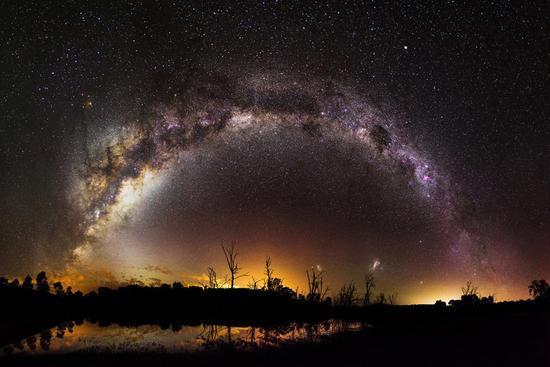 """11、""""Milky Way Over Harvey Dam, Western Australia"""",inefekt69"""