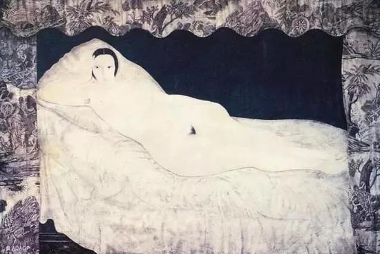 裸卧的吉吉 1922