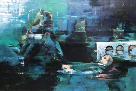 《雕像》布面油画 300*200 cm 2017