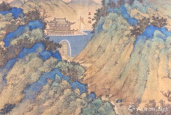 《丝路山水地图》东起嘉峪关