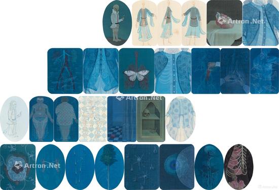 郝量2009年的作品《移用解剖学系列》在北京匡时春拍中以575万元成交,是2017年40岁以下年轻艺术家作品中的最高单件成交