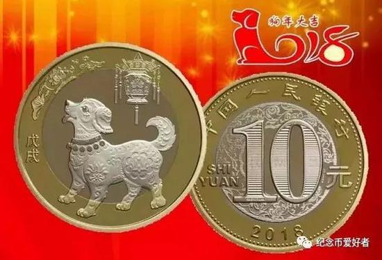 狗年纪念币面值10元,总发行量为3.5亿枚,每人预约限制为20枚。