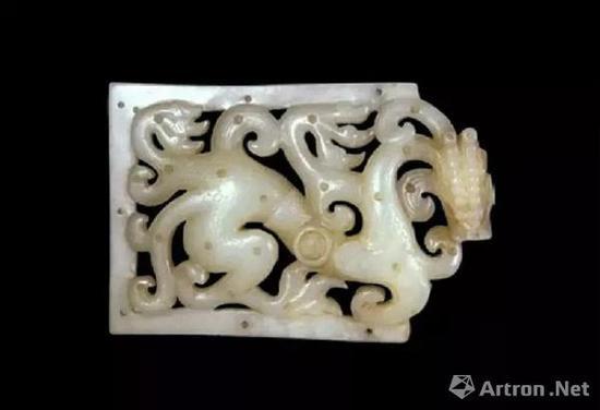 上海博物馆南北朝龙纹玉带板